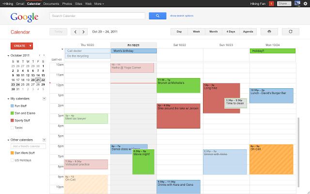 google calendar para eventos